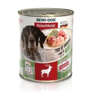 Bewi Dog Can with Meat of deer – 400g